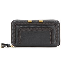 Chloe Marcie Zip Around Leather Wallet Black