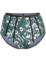 Morgan Lane Luna Floral Bikini Bottoms Green