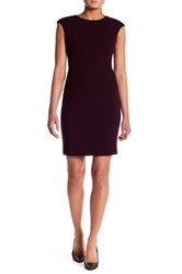 Vince Camuto Crepe Cap Sleeve Sheath Dress Red