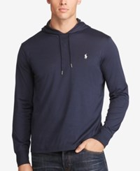 Polo Ralph Lauren Men's Big And Tall Featherweight Pima Hoodie Navy