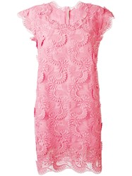 Ermanno Scervino Embroidered Dress Pink Purple