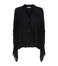 Max Mara Handkerchief Hem Cardigan Female Black