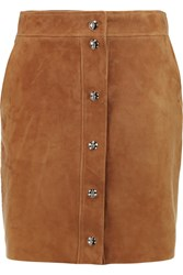 Emilio Pucci Suede Mini Skirt Brown