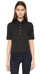 Veronica Beard Byron Short Sleeve Shirt Black