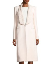 Brandon Maxwell Piped Lapel Mid Length Coat Pink
