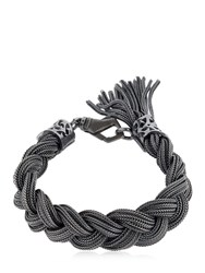 Emanuele Bicocchi Medium Braided Sterling Silver Bracelet