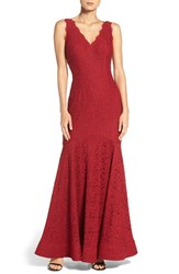 Adrianna Papell Women's Lace Mermaid Gown