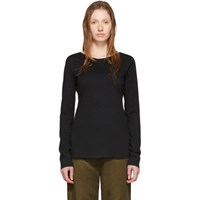 Raquel Allegra Black Ballet Long Sleeve T Shirt