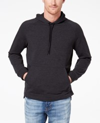 Kenneth Cole Reaction Men's Side Snap Hoodie Flannel Heather