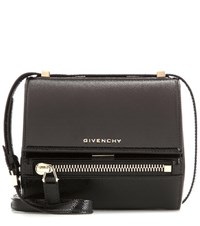 Givenchy Pandora Box Mini Patent Leather Shoulder Bag Black