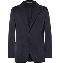 Berluti Navy Slim Fit Cotton Jersey Blazer Navy
