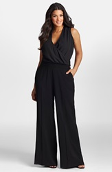 Mynt 1792 Wide Leg Surplice Jumpsuit Plus Size