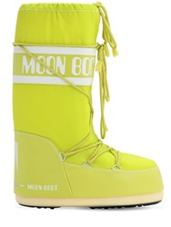 Moon Boot Classic Nylon Waterproof Snow Boots Lime Green
