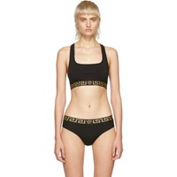 Versace Underwear Black Medusa Sports Bra