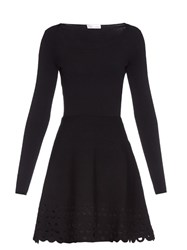 Red Valentino Laser Cut Jersey Dress