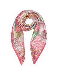 Mila Schon Seahorses And Coral Reefs Print Twill Silk Square Scarf