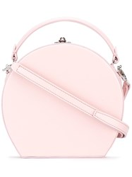 Bertoni 1949 Round Shoulder Bag Pink Purple