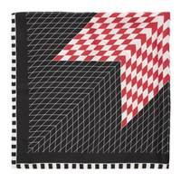 Haider Ackermann Black And Red Silk Charley Scarf