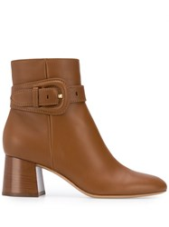 Gianvito Rossi Buckled Strap Ankle Boots Brown