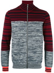 Paul Smith Ps By Colour Block Zip Up Cardigan