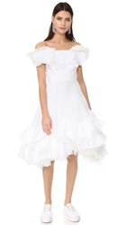 Natasha Zinko Strapless Dress White