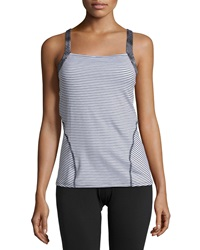 Soybu Starburst Striped Knotted Tank Optic Stripe