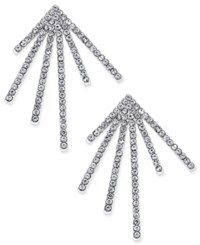 Inc International Concepts Silver Tone Pave Starburst Post Earrings Only At Macy's