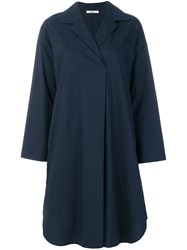 Odeeh Oversized Shirt Dress Cotton Blue