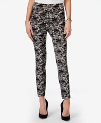 Bar Iii Printed Pull On Pants Only At Macy's Deep Black