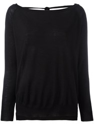 P.A.R.O.S.H. Open Back Sweater Black
