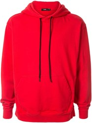 Bassike Popover Hoodie Red