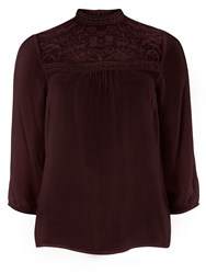 Dorothy Perkins Lace Victoriana Top Red