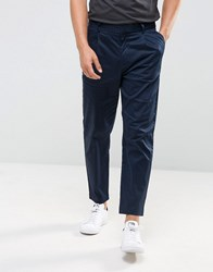 Kiomi Pleat Front Chinos In Navy Navy