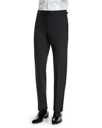 Tom Ford O'connor Base Tuxedo Trousers With Satin Trim Black