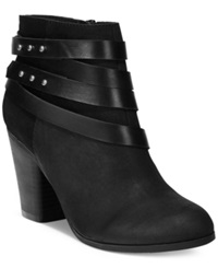 Material Girl Mini Strapped Booties Women's Shoes Black
