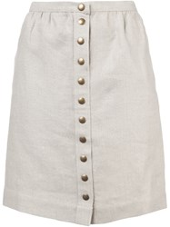 A.P.C. Buttoned Skirt Nude And Neutrals
