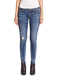 Hudson Jeans Krista Slight Distressed Super Skinny Fierce
