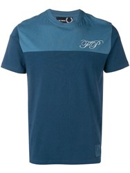 Fred Perry Raf Simons X Two Tone T Shirt Blue