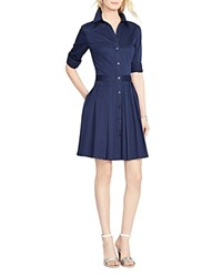 Lauren Ralph Lauren Collared Shirt Dress Lighthouse Navy