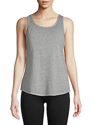 Andrew Marc New York Crisscross Strappy Tank Top Light Grey