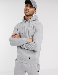 Soul Star Mix And Match Overhead Hoodie In Grey