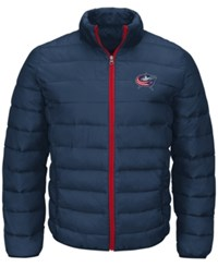 G3 Sports Men's Columbus Blue Jackets Skybox Packable Quilted Jacket Navy Red