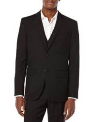 Perry Ellis Big And Tall Suit Jacket Black
