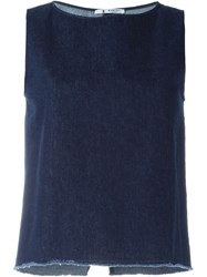 Barena Denim Sleeveless Top Blue