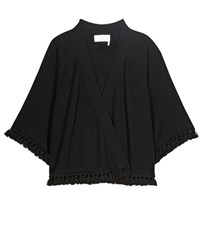 Chloe Cotton And Wool Cardigan Black