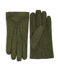 Saks Fifth Avenue Classic Leather Gloves Black