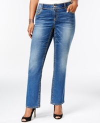 American Rag Plus Size Slim Bootcut Jeans Alice Wash
