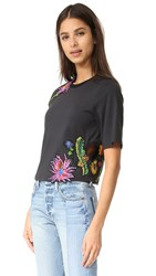 3.1 Phillip Lim Floral Embroidered Tee Soft Black