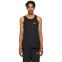 Nike Black Rise 365 Running Tank Top