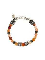 Eleventy Beaded Bracelet Yellow Orange